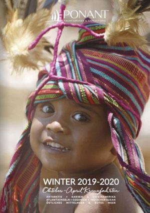 Ponant Kreuzfahrt Katalog Winter 2019 zeigt ein lachendes Kind