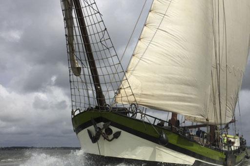 Segelwochenende Ijsselmeer zeigt das Segelschiff Wilhelmina