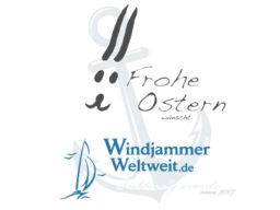 Frohe Ostern 2019 zeigt Ostergrüsse von Windjammer Weltweit