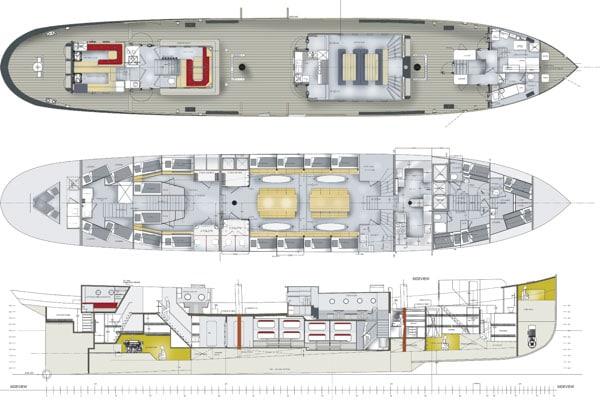 Zeigt Decksplan der Wylde Swan