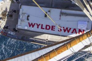 Zeigt die Wylde Swan von oben