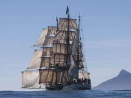 Falklandinseln Bild zeigt die Bark Europa