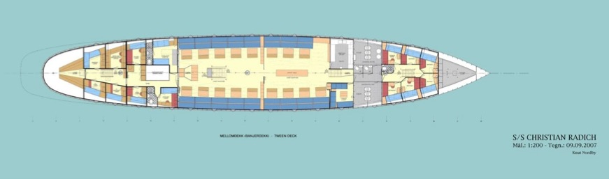 3 Mast Vollschiff Christian Radich Plan