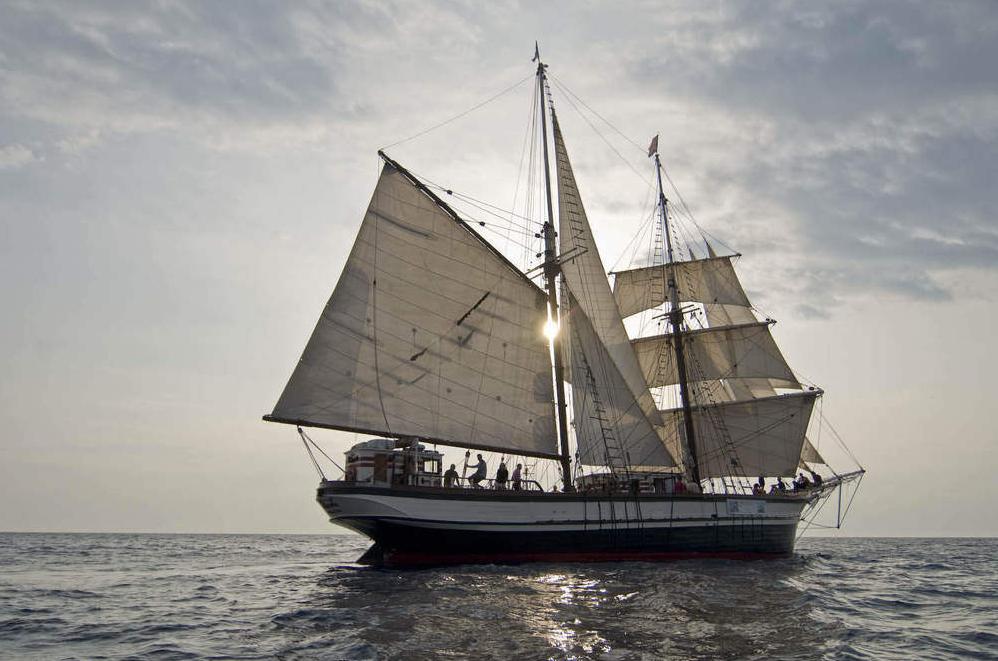 Brigantine Florette segelnd