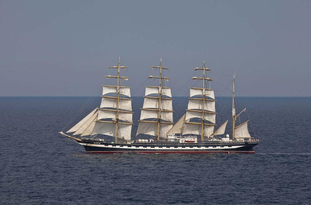 4 Mast Bark Kruzenshtern, Backbord