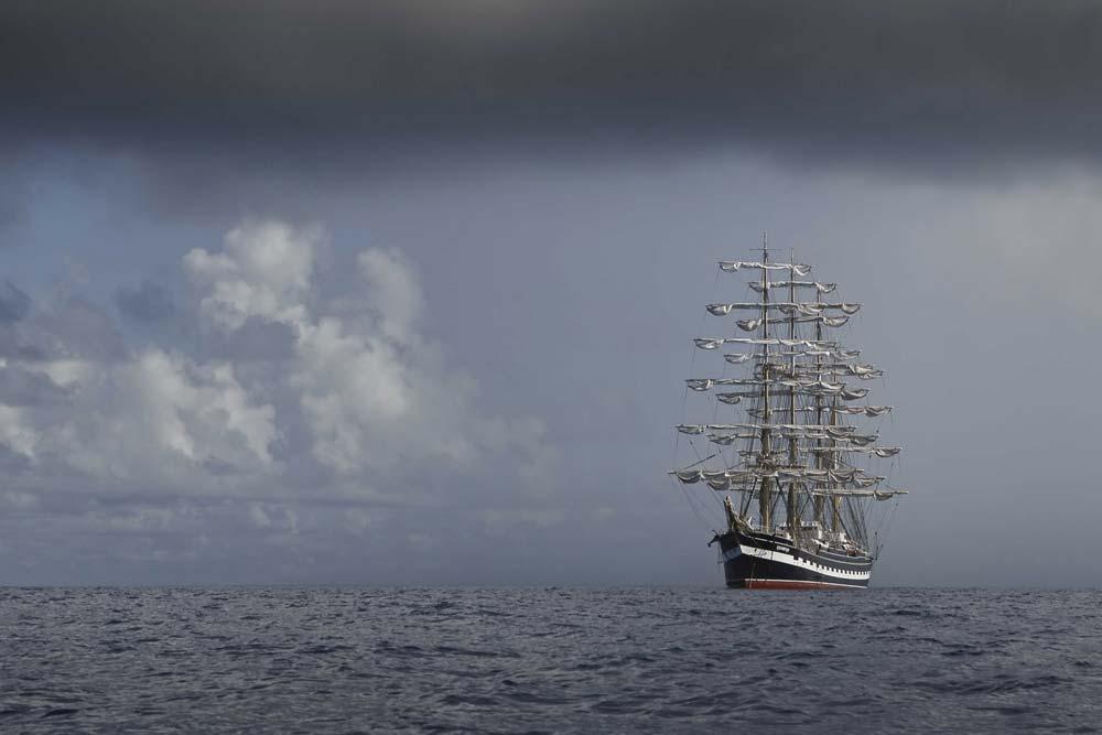4 Mast Bark Kruzenshtern segelnd