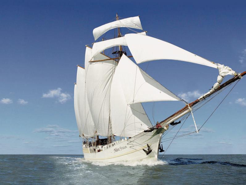 3 Mast Gaffelschoner Mare Frisium unter Segeln