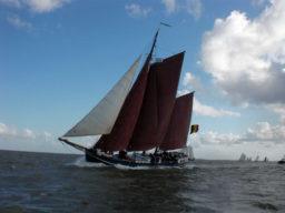 2 Mast Klipper Nordvaarder, segelnd