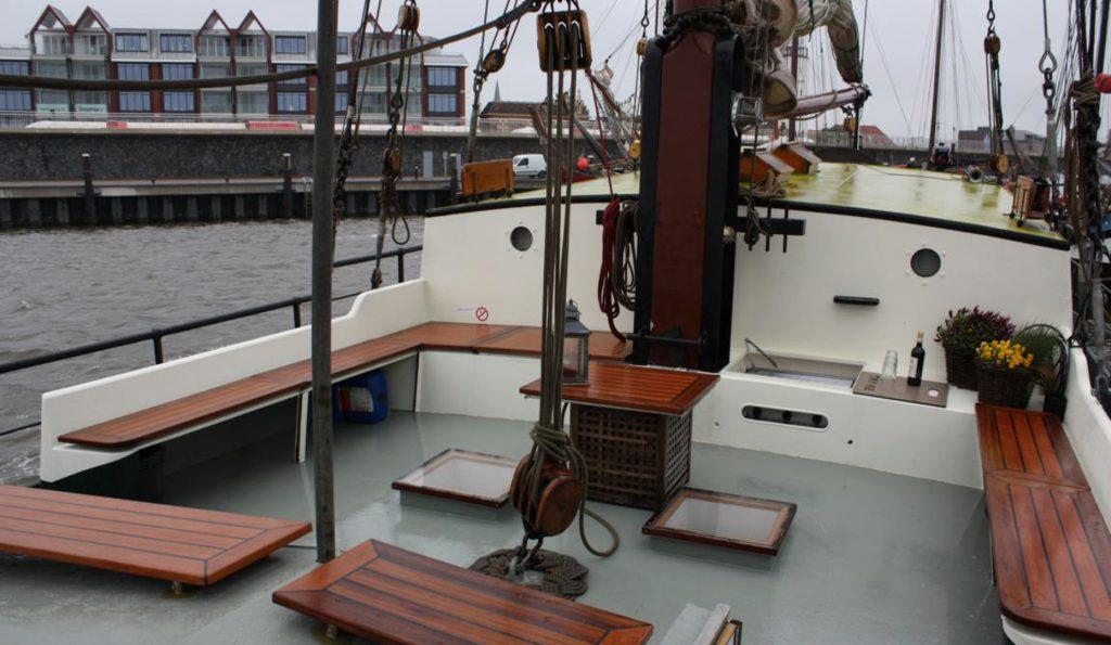2 Mast Klipper Wilhelmina, Decksansicht