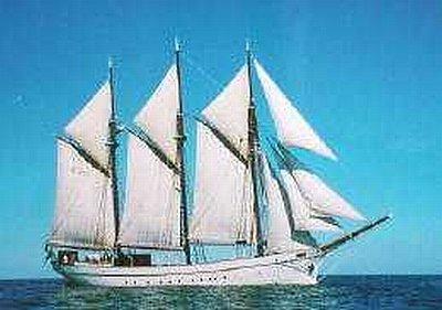 3 Mast Schoner Anny von Hamburg Steuerbordansicht