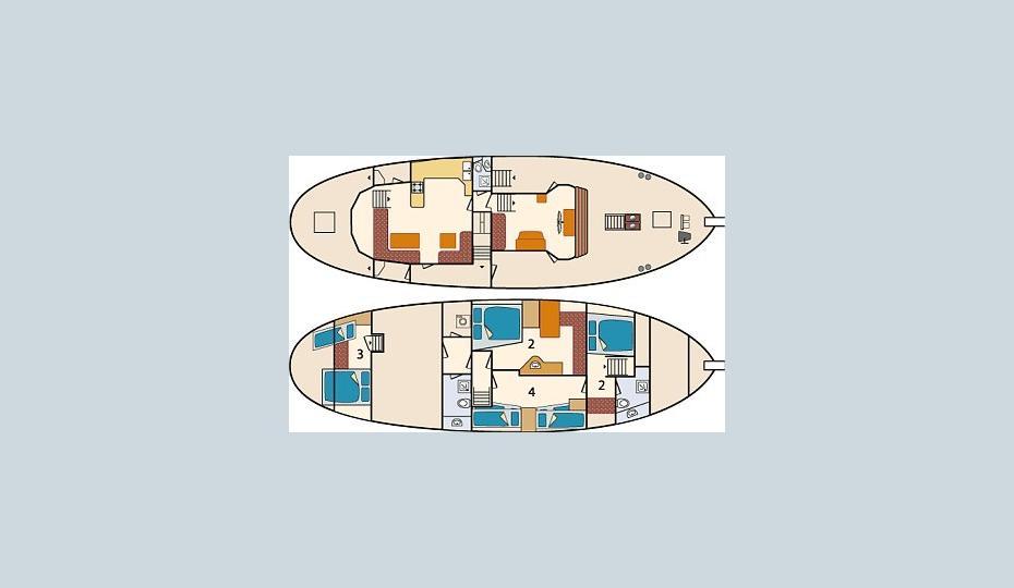 Kutter Blue Whale Kabinenplan