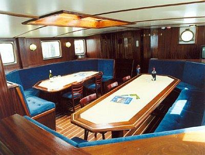 2 Mast Schoner Koh-i-Noor unter Deck