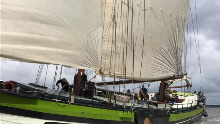 2 Mast Klipper Wilhelmina, Seitenansicht