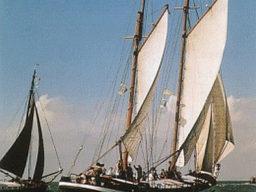 Zweimastklipper Zwadde, segelnd